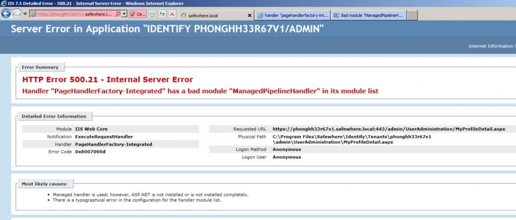 server error 1