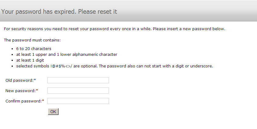username and password 2
