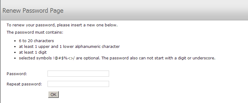 username and password 5