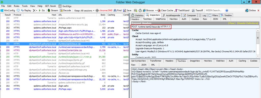 "Confirm the ""POST"" method of SAML2WIF"