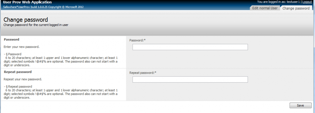 Identify UserProv Password Self Services - autogenerate false