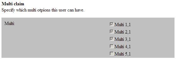 Identify UserProv Discreet Claim  isReadOnly is True- CSS